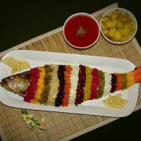 طرز تهیه ماهی شکم پر بدون فر به روش شمالی