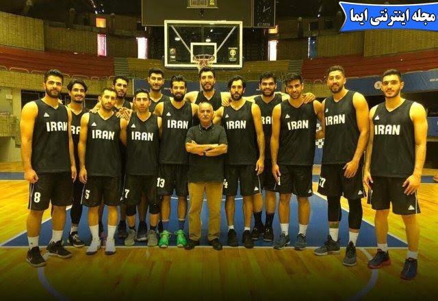 اهدای پیراهن شماره ۶ تیم ملی بسکتبال