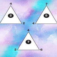 تست هوش: مثلث و اعداد درون و پیرامون